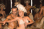 Chile, Easter Island:  The Kari Kari dance toupe dances at the Hotel Hanga Roa in Hanga Roa.  Easter Island and South Pacific dance styles..Photo #: ch336-33049..Photo copyright Lee Foster www.fostertravel.com lee@fostertravel.com 510-549-2202
