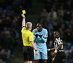 Yellow card for Yaya Toure of Manchester City - Barclays Premier League - Manchester City vs Newcastle Utd - Etihad Stadium - Manchester - England - 21st February 2015 - Picture Simon Bellis/Sportimage