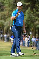 Jon Rahm (ESP) after sinking his putt on 10 during round 2 of the World Golf Championships, Mexico, Club De Golf Chapultepec, Mexico City, Mexico. 2/22/2019.<br /> Picture: Golffile | Ken Murray<br /> <br /> <br /> All photo usage must carry mandatory copyright credit (&copy; Golffile | Ken Murray)