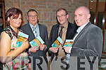 "Author of ""From Kilbrean and Back"", Sean O'Sullivan, pictured with his daughter Claudine and sons Bryan and Damien at the launch of his book in Darby O'Gills on Friday night.....   Copyright Kerry's Eye 2008"