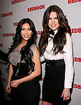 Kim Kardashian and Khloe Kardashian Odom at REDBOOK's first-ever family issue celebration featuring the Kardashians held at The Sunset Tower Hotel in West Hollywood, California on April 11,2011                                                                               © 2010 Hollywood Press Agency
