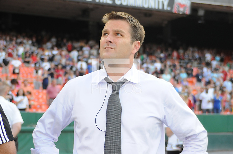 DC United  head coach Curt Onalfo.   DC United defeated Chivas USA 3-2 at RFK Stadium, Saturday  May 29, 2010.