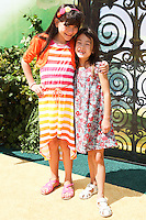 "WESTWOOD, LOS ANGELES, CA, USA - MAY 03: Chloe Noelle, Aubrey Anderson-Emmons at the Los Angeles Premiere Of ""Legends Of Oz: Dorthy's Return"" held at the Regency Village Theatre on May 3, 2014 in Westwood, Los Angeles, California, United States. (Photo by Celebrity Monitor)"