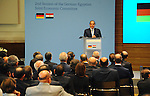 Egyptian President Abdel Fattah al-Sisi gives a speech during the second session of the German-Egyption Joint Economic Committee on June 3, 2015 in Berlin. German Vice Chancellor, Economy and Energy Minister Sigmar Gabriel and Abdel Fattah al-Sisi are to sign business contracts during the meeting. Photo by Egyptian Presidency