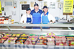 Shauna Ross, John Griffin and Des Daly pictured at John Griffin's Butchers in Ross's Mace, Ballyduff on Friday.