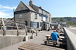 The Cove House Inn historic building at Chiswell, Isle of Portland, Dorset, England, UK