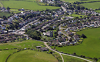 Aerial view of St Brides Major village south Wales