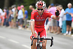 Cofidis rider crosses the finish line of Stage 7 of the 2018 Tour de France running 231km from Fougeres to Chartres, France. 13th July 2018. <br /> Picture: ASO/Pauline Ballet | Cyclefile<br /> All photos usage must carry mandatory copyright credit (&copy; Cyclefile | ASO/Pauline Ballet)