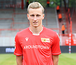06.07.2019, Stadion an der Wuhlheide, Berlin, GER, 2.FBL, 1.FC UNION BERLIN , Mannschaftsfoto, Portraits, <br /> DFL  regulations prohibit any use of photographs as image sequences and/or quasi-video<br /> im Bild Joshua Mees (1.FC Union Berlin #8)<br /> <br /> <br />      <br /> Foto © nordphoto / Engler