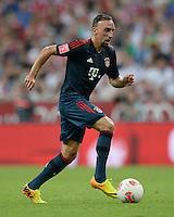 Fussball  International   Audi Cup 2013  Saison 2013/2014   31.07.2013 FC Bayern Muenchen - Sao Paulo FC  Franck Ribery (FC Bayern Muenchen) am Ball