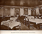 Southern School of Photography in McMinnville, TN.  1904-1928. Dining room.