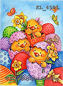 Interlitho-Theresa, EASTER, OSTERN, PASCUA, paintings+++++,3 easter chicks,KL4501,#E#