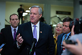 United States Representative Mark Meadows (Republican of North Carolina) speaks to members of the media during a dinner break in the impeachment trial of United States President Donald J. Trump at the United States Capitol in Washington D.C., U.S., on Monday, January 27, 2020.<br />  <br /> Credit: Stefani Reynolds / CNP