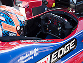 Verizon IndyCar Series<br /> Iowa Corn 300<br /> Iowa Speedway, Newton, IA USA<br /> Saturday 8 July 2017<br /> Alexander Rossi, Andretti Herta Autosport with Curb-Agajanian Honda steering wheel<br /> World Copyright: Michael L. Levitt<br /> LAT Images