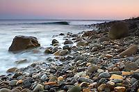 A wave rolls in at El Capitan State Beach