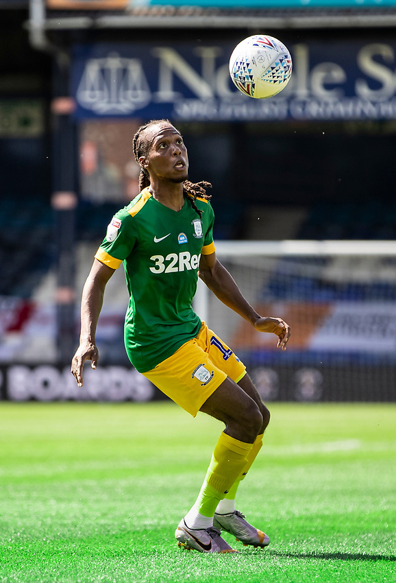 Preston North End's Daniel Johnson controlling the ball<br /> <br /> Photographer Andrew Kearns/CameraSport<br /> <br /> The EFL Sky Bet Championship - Luton Town v Preston North End - Saturday 20th June 2020 - Kenilworth Road - Luton<br /> <br /> World Copyright © 2020 CameraSport. All rights reserved. 43 Linden Ave. Countesthorpe. Leicester. England. LE8 5PG - Tel: +44 (0) 116 277 4147 - admin@camerasport.com - www.camerasport.com
