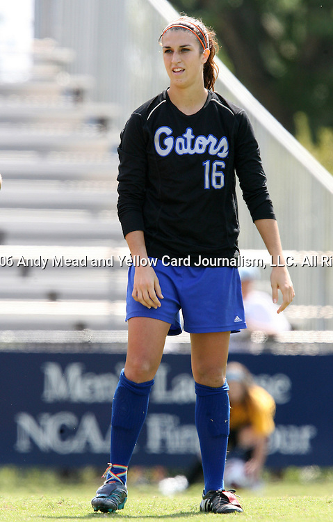 Florida's Brittni Goodwin on Sunday September 17th, 2006 at Koskinen Stadium on the campus of the Duke University in Durham, North Carolina. The University of North Carolina Tarheels defeated the University of Florida Gators 1-0 in an NCAA Division I Women's Soccer game.