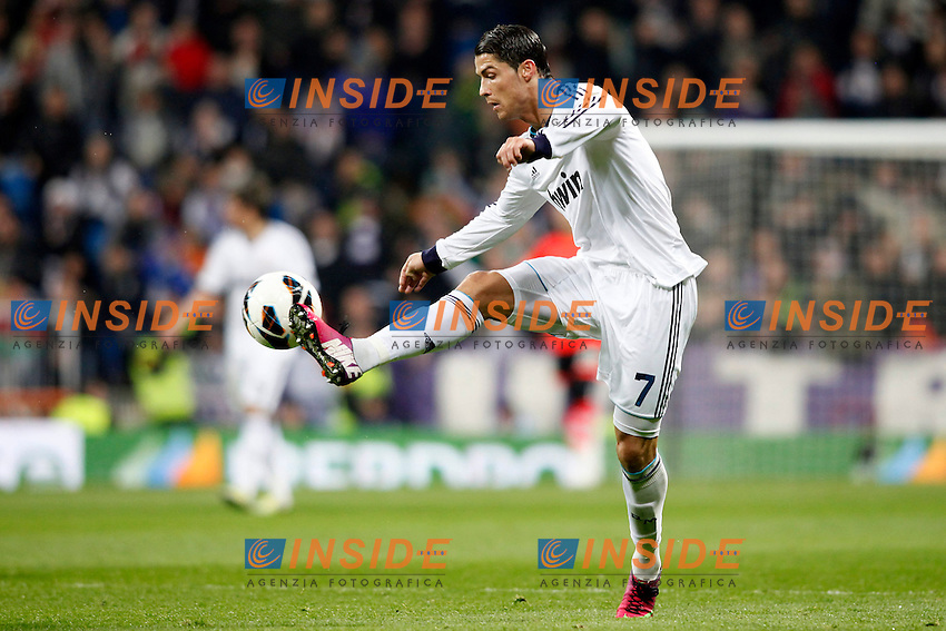 Real Madrid vs Rayo Vallecano during La Liga Match, in the pic: Cristiano Ronaldo. February 17, 2013. (ALTERPHOTOS/Caro Marin) .Football Calcio 2012/2013.La Liga Spagna.Foto Alterphotos / Insidefoto .ITALY ONLY