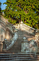 Italy; Lombardia; comunity Tremezzina: district Tremezzo on West Banks of Lake Como - staircase at Parco Civico Teresio Olivelli | Italien; Lombardei; Gemeinde Tremezzina: Ortsteil Tremezzo am Westufer des Comer Sees - Treppe im Parco Civico Teresio Olivelli