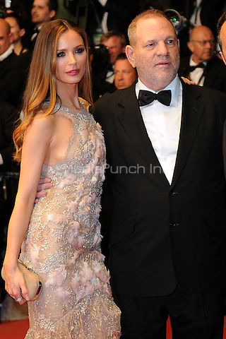 Harvey Weinstein and Georgina Chapman at the 'Hands of Stone' screening during The 69th Annual Cannes Film Festival on May 16, 2016 in Cannes, France.<br /> CAP/LAF<br /> &copy;Lafitte/Capital Pictures /MediaPunch ***NORTH AND SOUTH AMERICA ONLY***