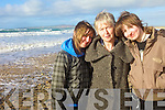 Rosaleen, Kathleen and Norma Harrington, from Lixnaw made the best of the fine weather at Banna beach  while waiting to see volunteers from the Irish seal Sanctuary release Tiny Tim back into the wild Atlantic on Sunday. .