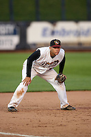 Quad Cities River Bandits third baseman Randy Cesar (39) during a game against the Bowling Green Hot Rods on July 24, 2016 at Modern Woodmen Park in Davenport, Iowa.  Quad Cities defeated Bowling Green 6-5.  (Mike Janes/Four Seam Images)
