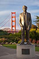 Joseph B. Strauss Statue by the Golden Gate Bridge