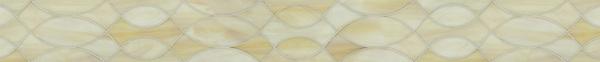 """4 1/4"""" Anisa border, a waterjet jewel glass mosaic, shown in Quartz."""