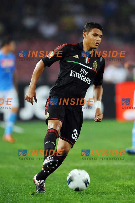 Thiago Silva ( Milan ).Napoli - Milan - Campionato Serie A TIM 2011/12.Napoli, 18.09.2011 - Stadio San Paolo.Insidefoto
