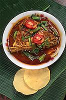 """Asie/Singapour/Singapour: Little India - Détail """"fish-head curry"""" (curry de têtes de poisson)"""