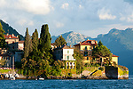 Varenna, Italy on Lake Como as seen from the water