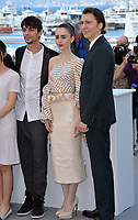 Paul Dano, Lily Collins &amp; Devon Bostick at the photocall for &quot;Okja&quot; at the 70th Festival de Cannes, Cannes, France. 19 May 2017<br /> Picture: Paul Smith/Featureflash/SilverHub 0208 004 5359 sales@silverhubmedia.com