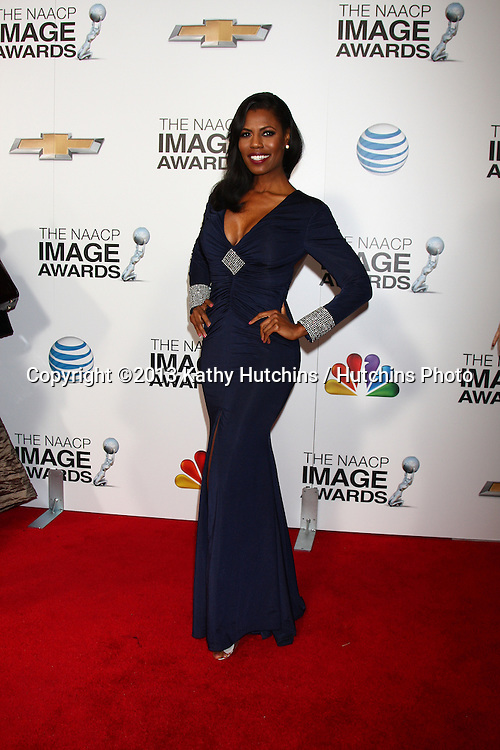 LOS ANGELES - FEB 1:  Omarosa Manigault arrives at the 44th NAACP Image Awards at the Shrine Auditorium on February 1, 2013 in Los Angeles, CA.
