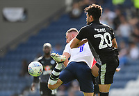 Preston North End's Louis Moult shields the ball from Reading's Tiago Ilori<br /> <br /> Photographer Chris Vaughan/CameraSport<br /> <br /> The EFL Sky Bet Championship - Preston North End v Reading - Saturday 15th September 2018 - Deepdale - Preston<br /> <br /> World Copyright &copy; 2018 CameraSport. All rights reserved. 43 Linden Ave. Countesthorpe. Leicester. England. LE8 5PG - Tel: +44 (0) 116 277 4147 - admin@camerasport.com - www.camerasport.com