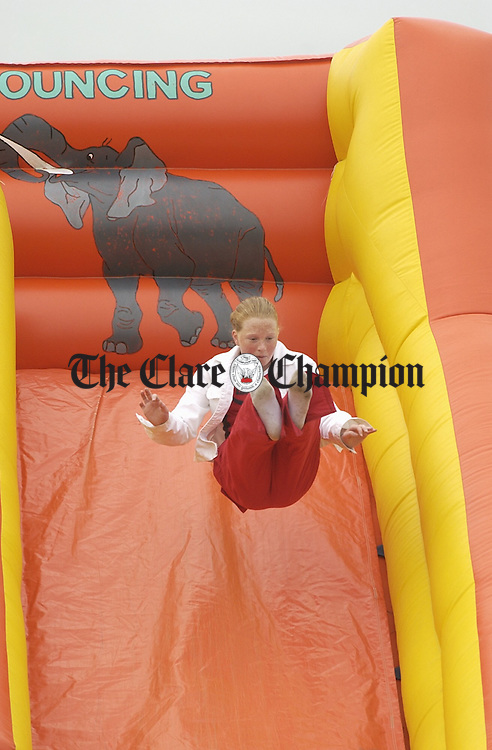 Children having fun on the bouncing castle at the Miltown Malbay Town and Country Fair.  Photograph by John Kelly.