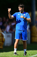 Lincoln City manager Danny Cowley shouts instructions to his team from the technical area<br /> <br /> Photographer Chris Vaughan/CameraSport<br /> <br /> Football - Pre-Season Friendly - Lincoln United v Lincoln City - Saturday 8th July 2017 - Sun Hat Villas Stadium - Lincoln<br /> <br /> World Copyright &copy; 2017 CameraSport. All rights reserved. 43 Linden Ave. Countesthorpe. Leicester. England. LE8 5PG - Tel: +44 (0) 116 277 4147 - admin@camerasport.com - www.camerasport.com