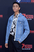 """LOS ANGELES - AUG 13:  Bryce Xavier at the """"47 Meters Down: Uncaged"""" Los Angeles Premiere at the Village Theater on August 13, 2019 in Westwood, CA"""