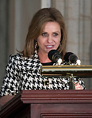 United States Representative Lynn Jenkins (Republican of Kansas) makes remarks at a Congressional Gold Medal ceremony honoring former US Senator Bob Dole (Republican of Kansas) that was also attended by US President Donald J. Trump in the Rotunda of the US Capitol on Wednesday, January 17, 2017.  Congress commissioned gold medals as its highest expression of national appreciation for distinguished achievements and contributions.  Dole served in Congress from 1961 through 1996, was the Senate GOP leader from 1985 through 1996, and was the 1996 Republican Party nominee for President of the United States.<br /> Credit: Ron Sachs / CNP
