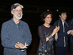 Terrence Mann, Director Diane Paulus & Matthew James Thomas  attending the Broadway Opening Night Gypsy Robe Ceremony honoring Stephanie Pope for 'Pippin' at the Music Box Theatre in New York City on 4/25/2013