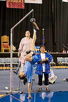 David Thomas in the mens Alaska high kick at the 2008 World Eskimo Indian Olympics held annually in Fairbanks, Alaska.