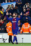 25th September 2018, Camp Nou, Barcelona, Spain; Copa del Rey football, quarter final, second leg, Barcelona versus Espanyol; Leo Messi celebration after score first goal