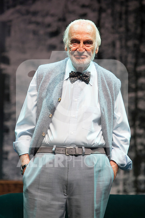 Argentinian actor Hector Alterio performs during `El lago dorado´ theater play in Madrid, Spain. August 17, 2015. (ALTERPHOTOS/Victor Blanco)