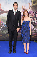 Sacha Baron Cohen &amp; Isla Fisher at the premiere of &quot;Alice Through the Looking Glass&quot; at the Odeon Leicester Square, London.<br /> May 10, 2016  London, UK<br /> Picture: Steve Vas / Featureflash