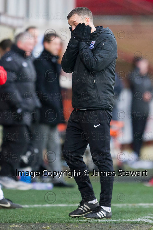 Ayr Utd Manager Mark Roberts.