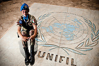 Woman in italian Army in Unifil mission in Lebanon