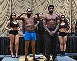 Las Vegas 02-12-2020: Reid Boxing inaugural Professional Boxing Weighin, at the Westgate Las Vegas with 5 exciting cards. WILL CLEMONS. Vs  VICTOR TONEY