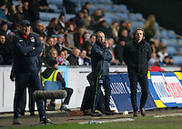Wycombe Wanderers Manager Gareth Ainsworth (right) during the The Checkatrade Trophy - EFL Trophy Semi Final match between Coventry City and Wycombe Wanderers at the Ricoh Arena, Coventry, England on 7 February 2017. Photo by Andy Rowland.