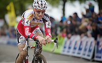 Koppenbergcross 2013<br /> <br /> Kevin Pauwels (BEL) crossing the finishline