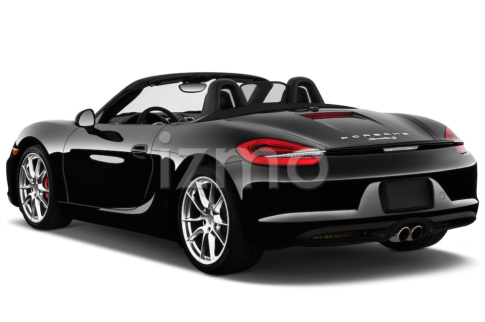 Rear three quarter view of a 2013 Porsche Boxster S