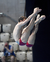 Canada's Philippe Gagne and Francois Imbeau -Dulac Compete in the Men's 3m Synchro Springboard<br /> <br /> Photographer Hannah Fountain/CameraSport<br /> <br /> FINA/CNSG Diving World Series 2019 - Day 1 - Friday 17th May 2019 - London Aquatics Centre - Queen Elizabeth Olympic Park - London<br /> <br /> World Copyright © 2019 CameraSport. All rights reserved. 43 Linden Ave. Countesthorpe. Leicester. England. LE8 5PG - Tel: +44 (0) 116 277 4147 - admin@camerasport.com - www.camerasport.com